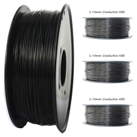 Anti static 1.75mm Conductive ABS Filament 1 KG black color 3d printer filament Printing Temperature 230 260 Conductive ABS