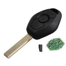 433/315 МГЦ Замена Обменялись Remote Key Entry Fob Передатчик Uncut Стеклоочистителя Для BMW X3 X5 3 серии с логотип