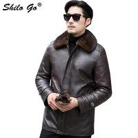 5XL Mens Winter Fur Parkas Coats Smart Causal Thick Parkas Plus Size Real Mink Fur Collar Mink Lining Outwear Warm Fur Coat