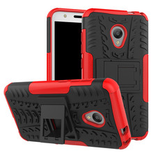 For Alcatel U5 5047 5044D 5047Y / Optus X SPIRIT Dual Layer Tire Pattern Hybrid Armor Case Soft TPU & Hard Back Kickstand Cover