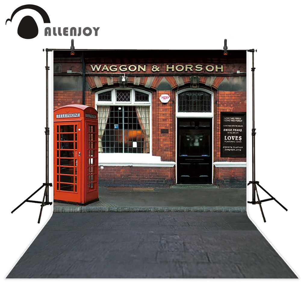 Allenjoy 10*20feet(300*600CM) Photography Background Telephone booth curtain window maceteros