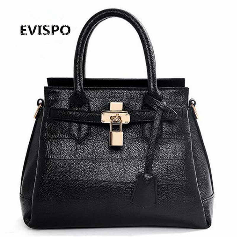 EVISPO Women Bag Casual Women Leather Handbags Female Medium Women Shoulder Bags
