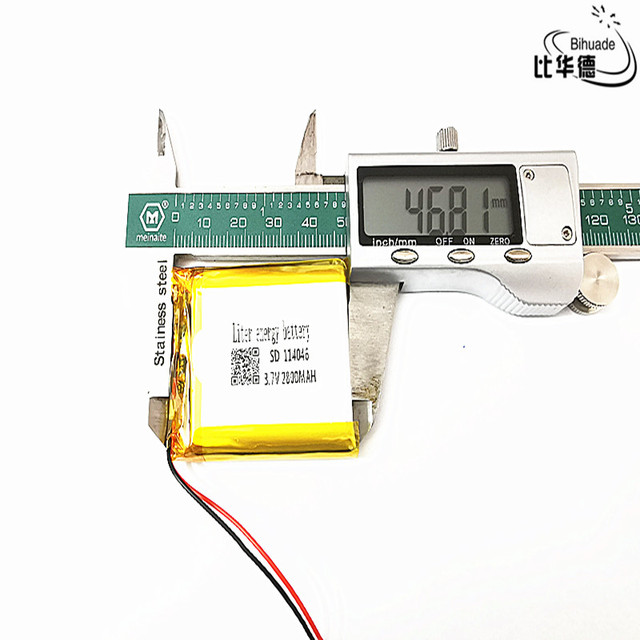3.7 V 2800 mAh 114046 ליתיום פולימר ליטיום li יון נטענת סוללה תאים עבור Mp3 MP4 MP5 GPS