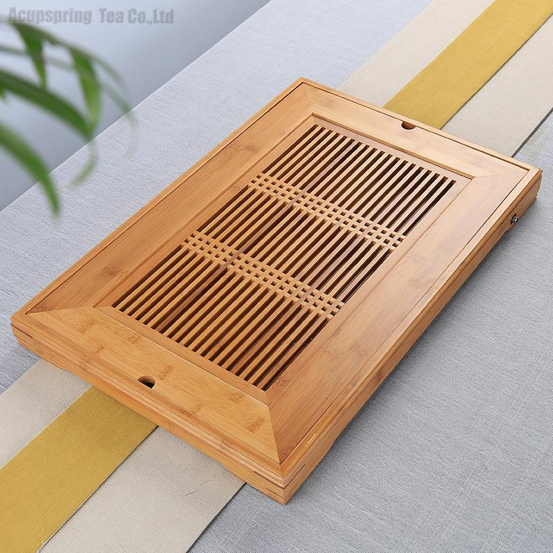 Beautiful Bamboo Tea Tray,Tea table/Plate,Chinese Kungfu Tea Ceremony teaset/Accessories for Black/Puer/Pu'erh/white/Jasmine tea