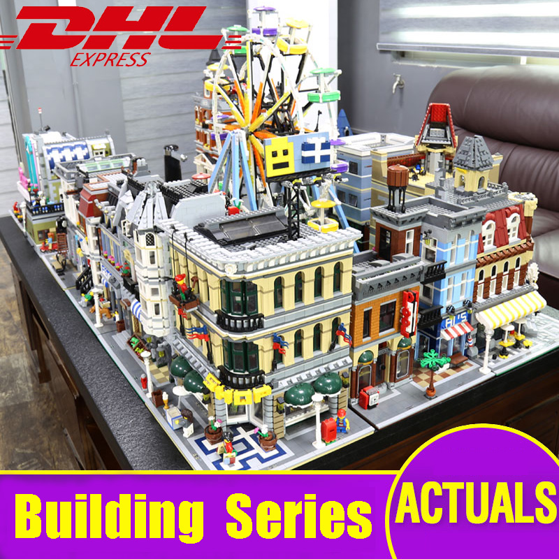LEPIN CITY Creators 15001 15002 15003 15004 15005 15006 15007 15008 15009 15010 15011 15039 building series blocks Legoing model конструктор lepin creators зоомагазин 2082 дет 15009