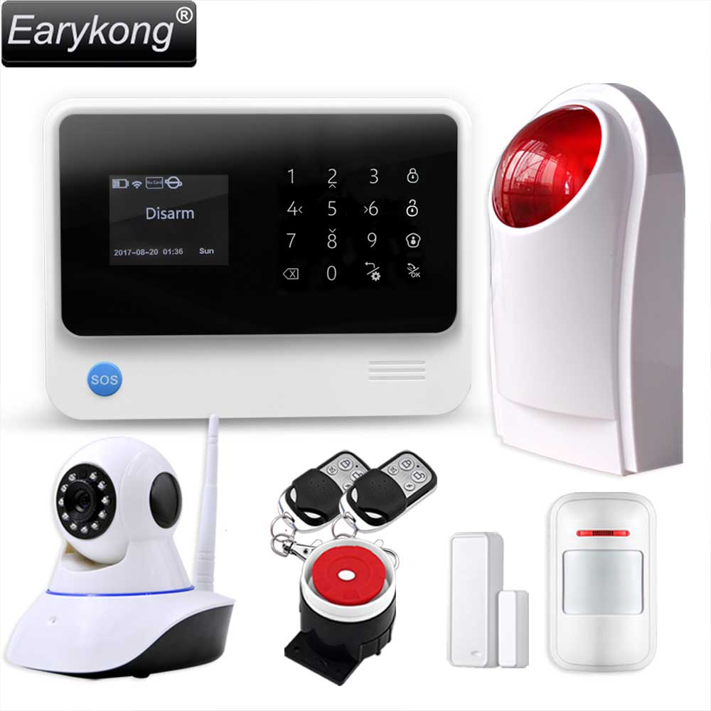 Original G90B WIFI gsm alarm system Touch Keyboard IOS Android APP 433MHz Home Burglar Wifi/GSM/GPRS/SMS Alarm System, Earykong king pigeon t4 direct factory gprs gsm emergency alarm telecare helper system sms for blood pressure monitor with android app