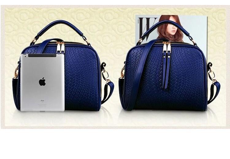 2015 Autumn New Arrival Women Weave Tassel Women PU Leather Handbags Women Shoulder Bag Ladies Casual Messenger Bags BH1150 (6)