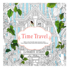 1 Pcs/24 Pages Time Travel Free Coloring Books For Adult Children Drawing Colouring Book Pages Adult Graffiti Anti-Stress Livro