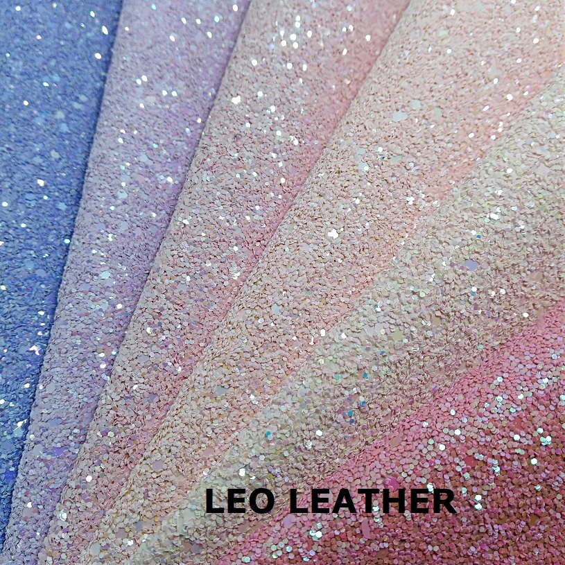 1 YARD Synthetic Leather Chunky Glitter Leather Fabric For DIY Accessories P593