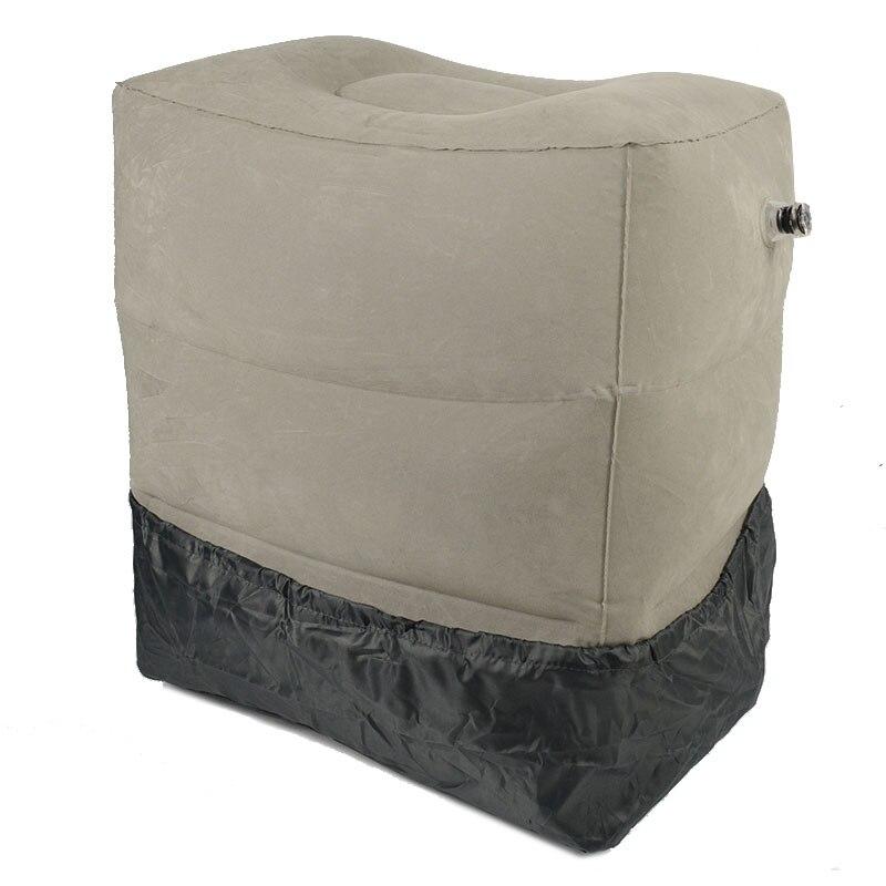 XC USHIO 3 capas inflable de viaje reposapiés almohada 385g avión tren coche reposapiés cojín con bolsa de almacenamiento y cubierta de polvo