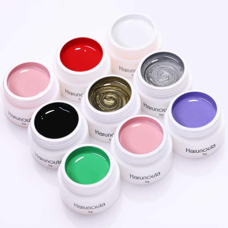 Harunouta 5 г штамповка Гель-лак для ногтей красный розовый Золотой смешанные цвета замочить от дизайна ногтей гель для штамповки ногтей пластины