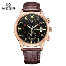 Megir Часы Мужские Часы Мужчины Часы 2017 Лучший Бренд Класса Люкс Известный Стиль Кварцевые Наручные Часы для Мужчин Кварцевые часы Relogio Masculino
