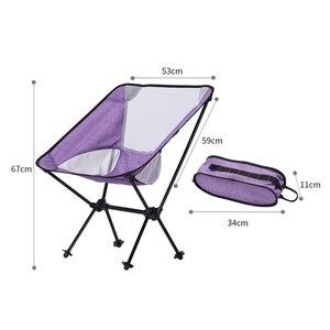 Image 5 - Silla de pesca para interior y exterior, taburete de Camping, muebles de exterior, portátil, púrpura, azul, ligero, 600D, sillas de tela Oxford