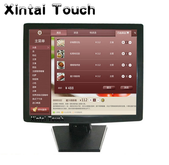 China Factory Desktop 21.5 inch Touch screen Monitor with 5-Wire Resitive touch panel