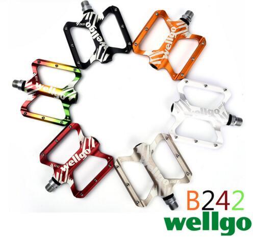 WELLGO B242 aluminium 6061 CNC pédales/vtt vélo pédales/vélo pédales/roulement pied haute qualité Wellgo coloré vélo pédales