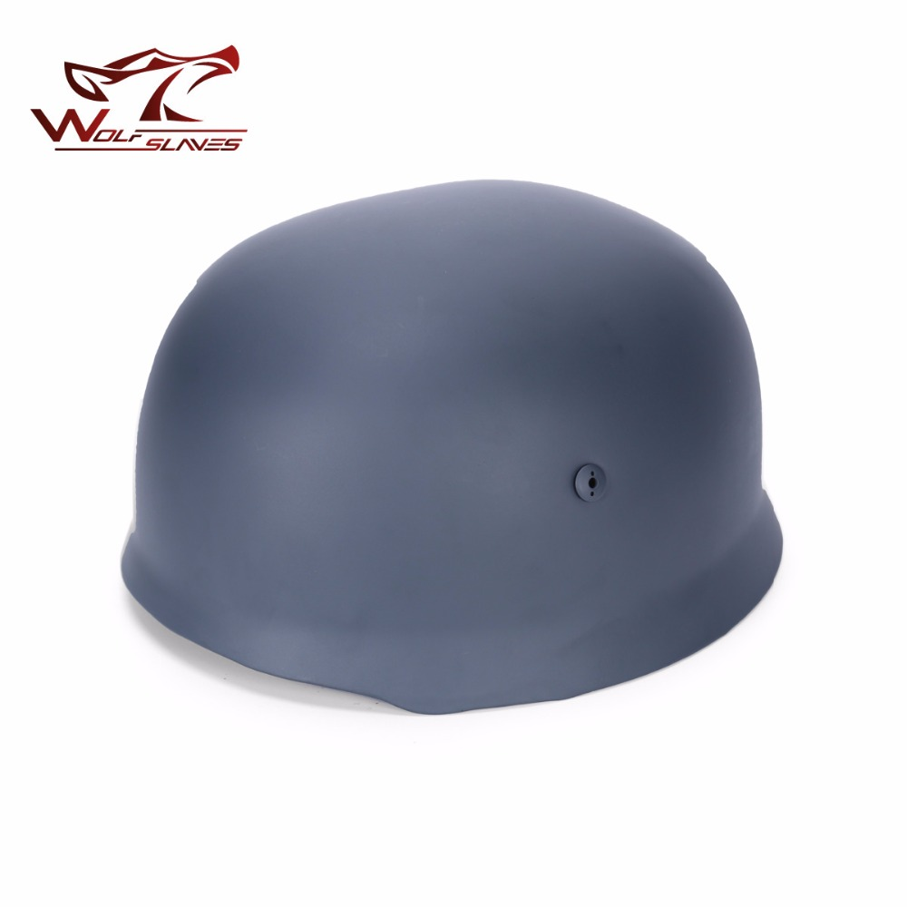 2017 Newest Half-covered Steel Helmet With Leather Liner Grey Paratrooper Helmet World War 2 German M38 Helmet