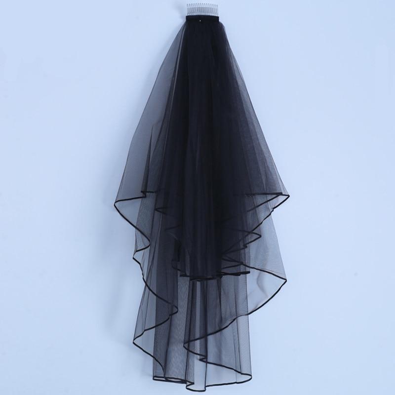 Купить фата свадебная с гребнем простая двухслойная мягкая тюлевая