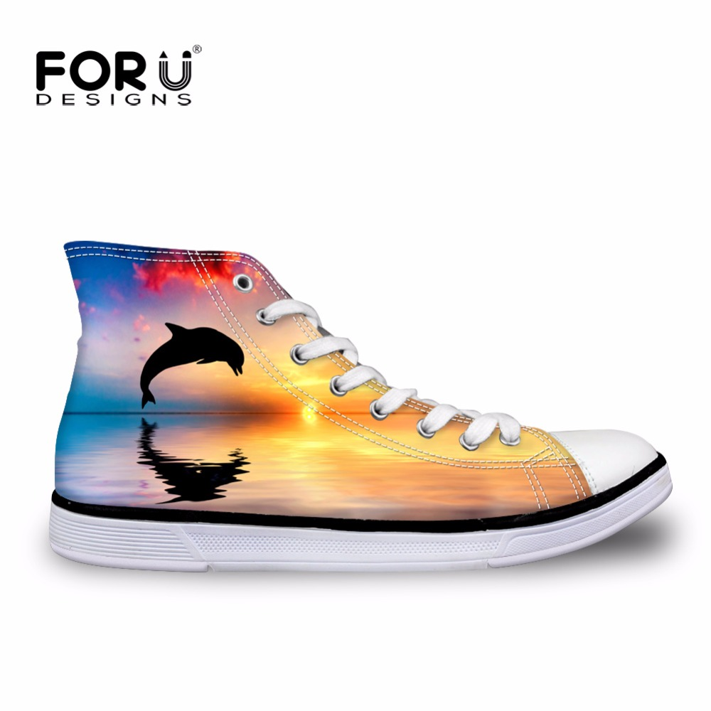 FORUDESIGNS 2018 Fashion Men Casual High Top Canvas Shoes Customized Designs Flat Vulcanized Shoes Male Autumn Lace-up Shoes xiaguocai spring autumn high top men shoes fashion canvas men s casual shoes lace up flat ankle boots for male