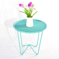 Assemble Home Furnishing Simple Tea Table Living Room Iron Small Round Fashion Small Side Sofa Table