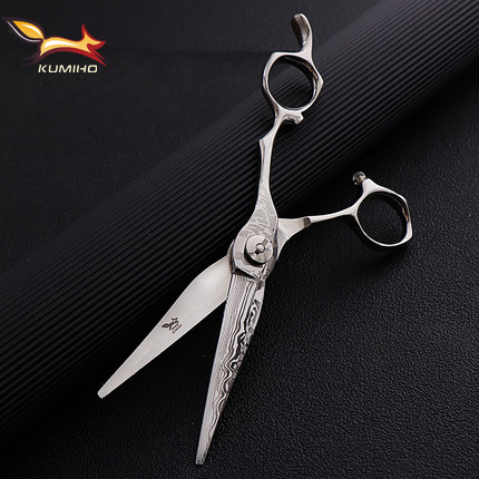 KUMIHO 6.25inch Professional Hair Shear With Damascus Pattern High Hardness Hair Scissors Japan 440C Factory Direct Supply