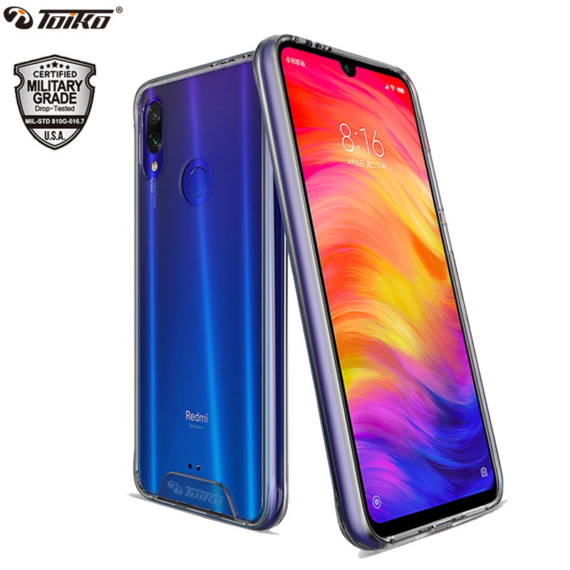 TOIKO Chiron Clear Shockproof Case for <font><b>xiaomi</b></font> <font><b>Redmi</b></font> Note <font><b>7</b></font> Pro <font><b>Back</b></font> <font><b>Cover</b></font> Hybrid PC TPU Bumper <font><b>Redmi</b></font> Note 6 Pro Protective Shell image