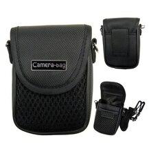 3 rozmiar torba na aparat torba kompaktowy futerał na aparat uniwersalna miękka torba etui + pasek czarny do kamery cyfrowe