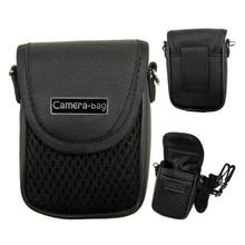 Funda para cámara compacta de 3 tamaños, bolsa suave Universal + correa negra para cámaras digitales