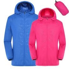Быстросохнущая походная куртка для мужчин и женщин, водонепроницаемая Солнцезащитная куртка с защитой от УФ-лучей, спортивные куртки для рыбалки RW078