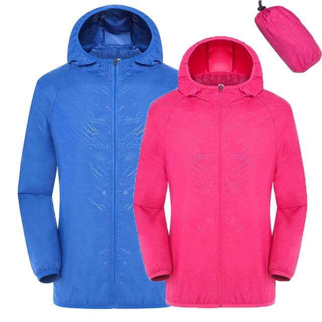 Men Women Quick Dry Hiking Jacket Waterproof Sun & UV Protection Coats Outdoor Sport Skin Jackets XXXL 2017 Thin Jackets RW078