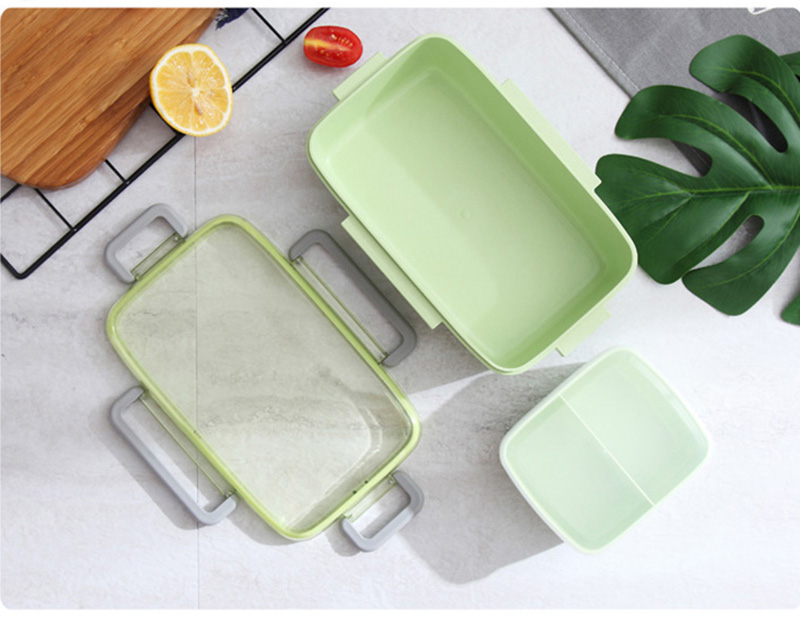 TUUTH New Microwave Lunch Box Independent Lattice For Kids Bento Box Portable Leak-Proof Bento Lunch Box Food Container A4