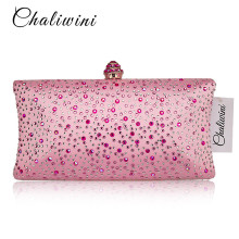 цена Black Colorful Diamond Crystal Evening Clutch Bags Women Handbag Cocktail Party Metal Clutches Bag Bridal Wedding Clutch Purse