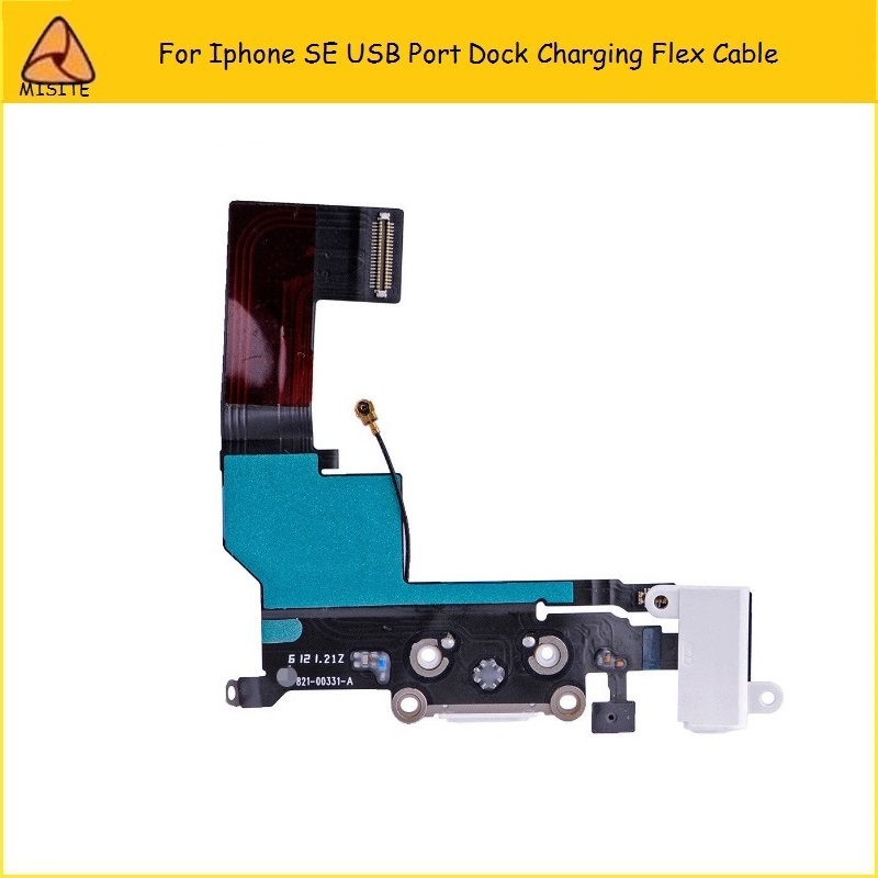 10PCS/Lot High Quality Charging flex cable for iphone SE dock connector USB Port Audio Jack Headphone Flex Cable for iphone 5SE
