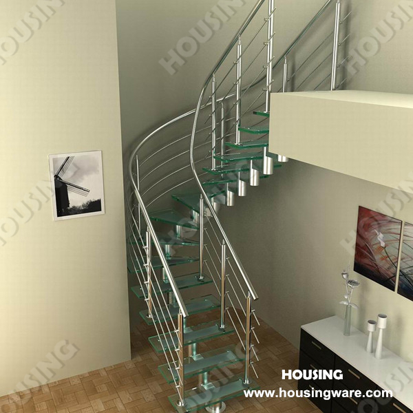 World Wide Curved Stairs With Glass Tread In Affordable Price On  Aliexpress.com | Alibaba Group