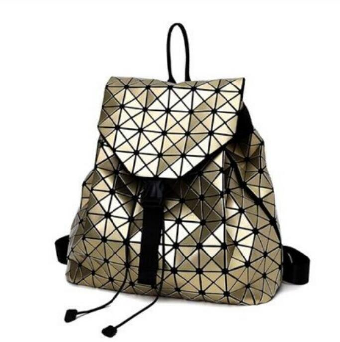 Fashion Women Drawstring Backpack Geometric Female Backpacks For Teenage Girls Bagpack Holographic Ladies bao School Bag Sac ipinee women backpack feminine geometric plaid denim female backpacks for teenage girls bagpack drawstring bag holographic