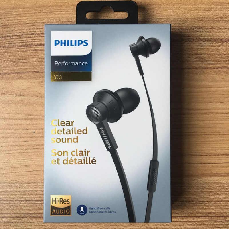 2018 Philips Tx1 hiere auriculares de alta resolución de fiebre HIFI auriculares con cancelación de ruido para Xiaomi teléfono Huawei