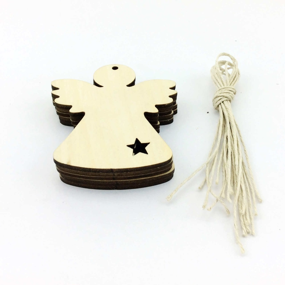 Wooden Angels Christmas Tree Decoration Blank for free shipping-in ...