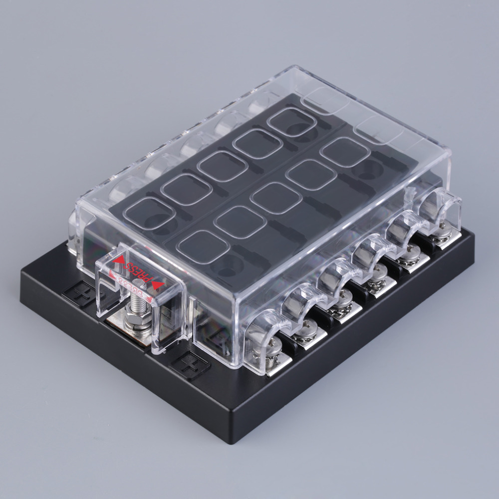 com buy new way circuit car atc ato blade fuse box com buy new 12 way circuit car atc ato blade fuse box block holder 32v terminals hot selling from reliable block suppliers on shenzhen