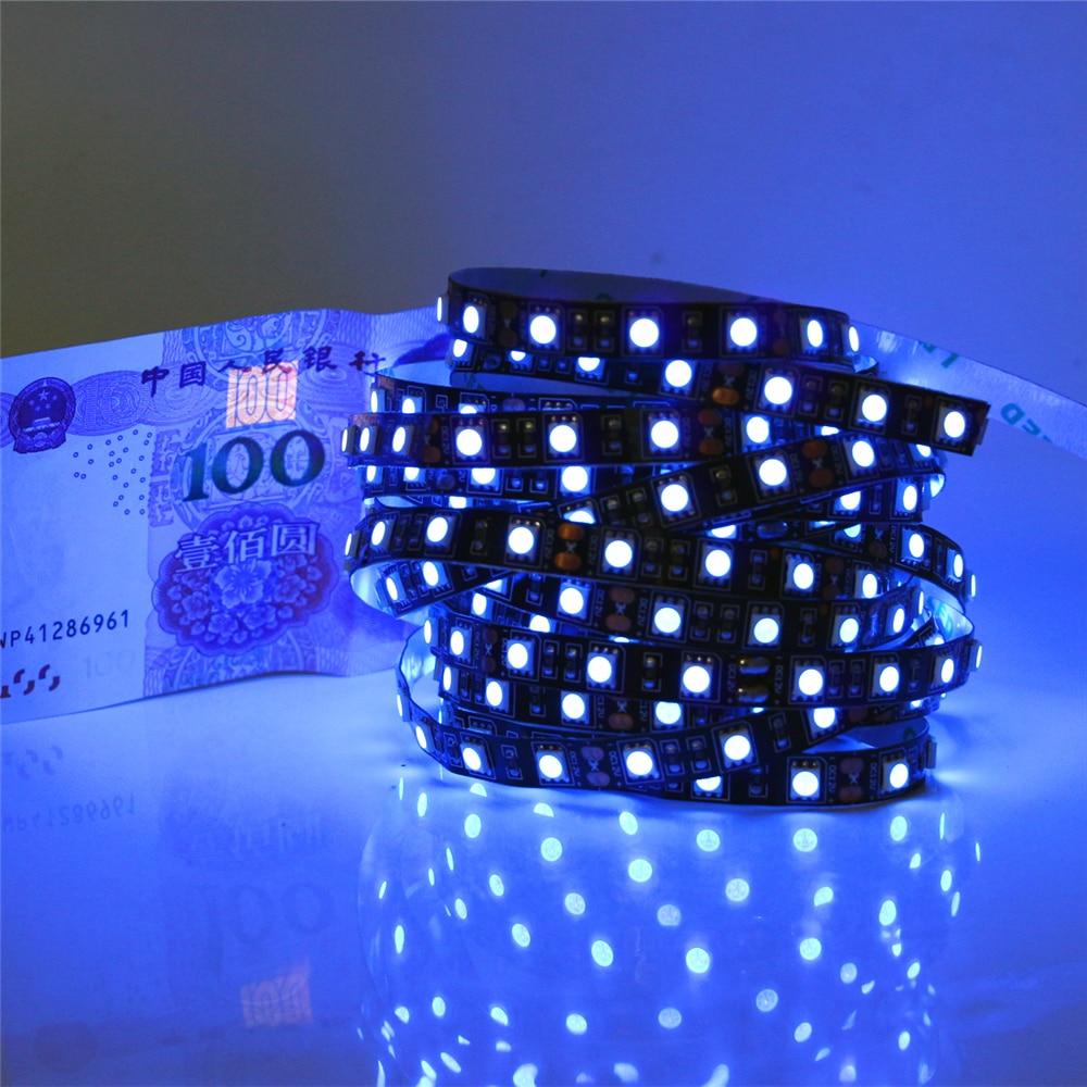 dc12v black pcb uv led strip light 5050 smd 60leds m 1m 2m 3m 4m 5m ultraviolet ray purple. Black Bedroom Furniture Sets. Home Design Ideas