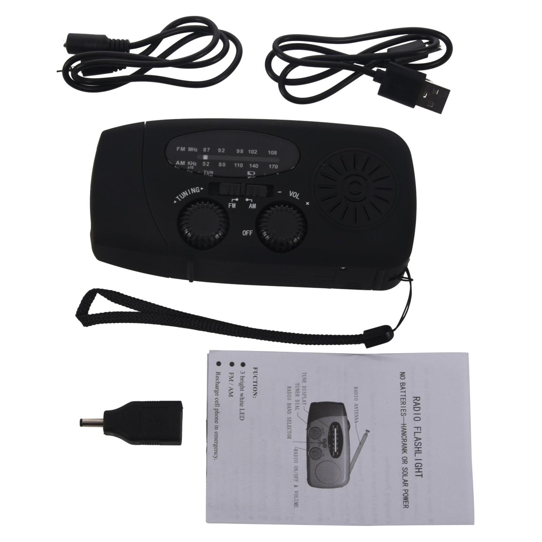 Tragbares Audio & Video Top Angebote Wasserdichte Tragbare Hand Crank Solar Radio Am/fm 3 Led Taschenlampe Handy-ladegerät StäRkung Von Sehnen Und Knochen