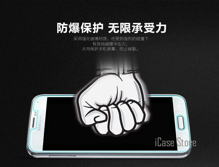 9H 0.26mm tempered glass For Samsung Galaxy S5 i9600 tempered glass screen protector protective guard film case cover clean kits