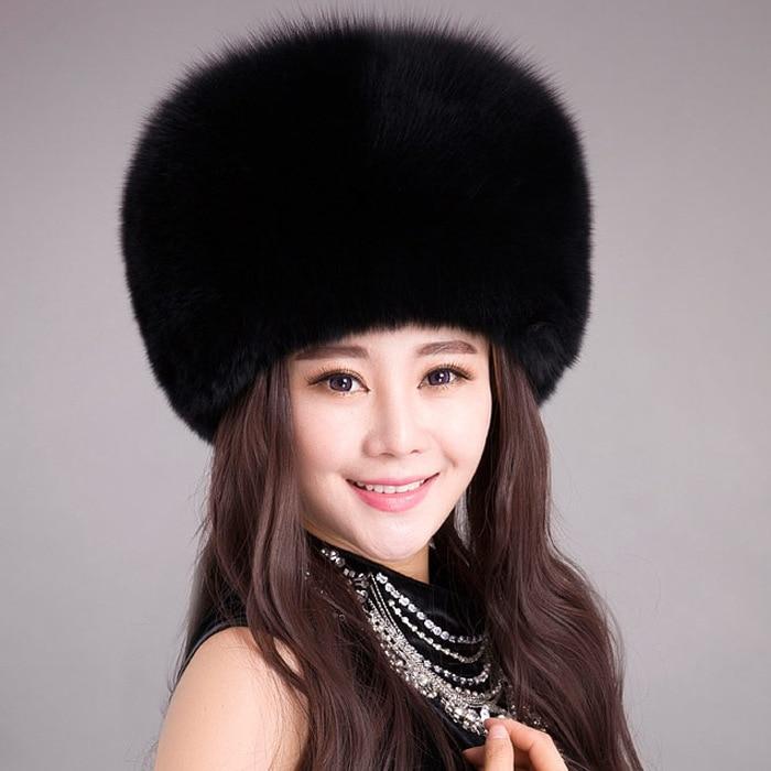 Women Winter Warm Fur Hat Faux Fox Fur Cossack Fashion Hat