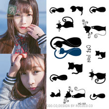 2pcs/lots Limited Men Hot Explosion Of Disposable Waterproof Tattoo Stickers Small Fresh Cats Hc1183
