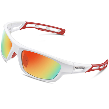 a97bdc546c0a6 TOREGE Polarized Sports Sunglasses for Men Women Cycling Running Driving Fishing  Golf Baseball Glasses TR90 Unbreakable Frame - Shop The Nation