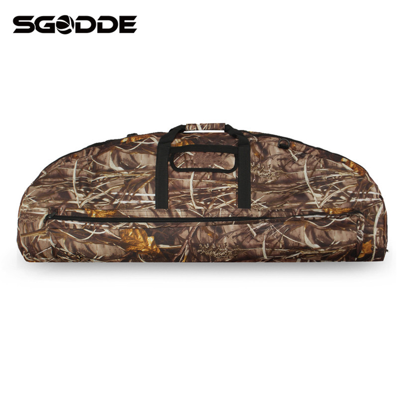 Portable Camouflage 95cm/115cm Compound Bow Bag Waterproof Canvas Large Capacity Archery Package Bow and Arrow Hunting Bags
