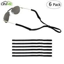 Onme 6 шт. эластичные силиконовые очки ремни цепочка для солнцезащитных очков спортивные противоскользящие струнные очки веревки ремешок шнур держатель