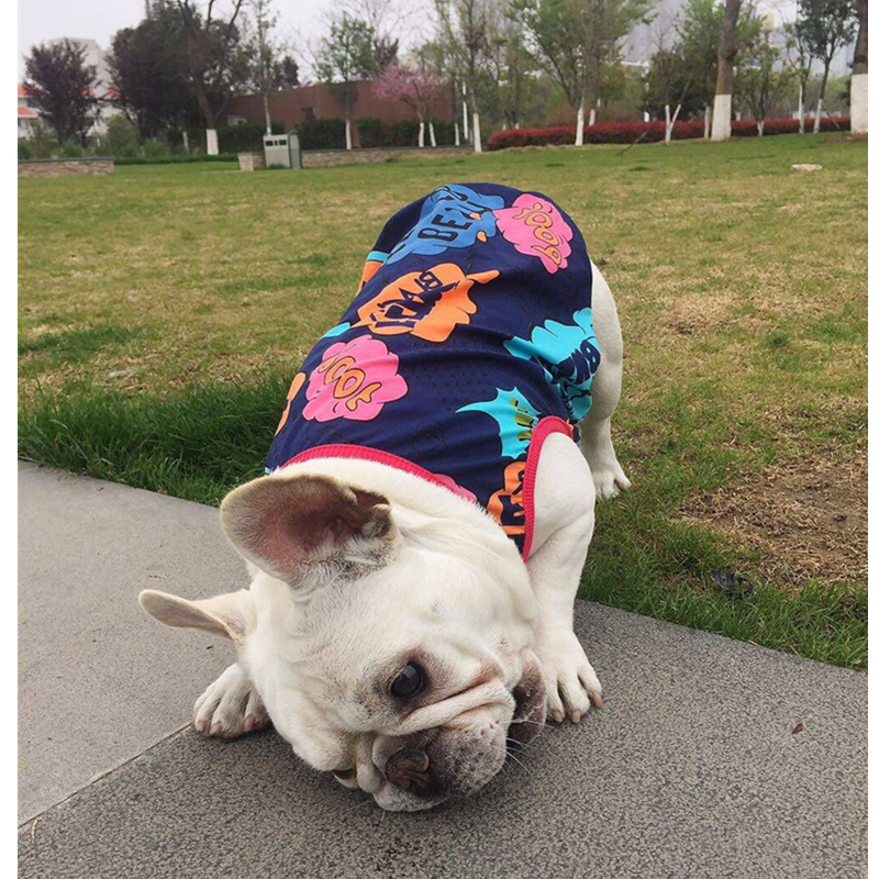 pipifren spring summer dogs clothes t shirts in french bulldog life