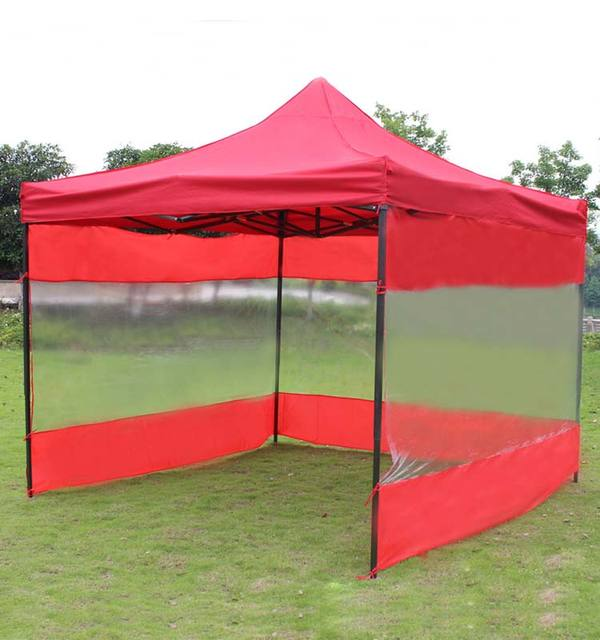 DANCHEL 3x3m Steel frame tent with sidewalls and logotransparent sidewall tent  sc 1 st  AliExpress.com & DANCHEL 3x3m Steel frame tent with sidewalls and logotransparent ...