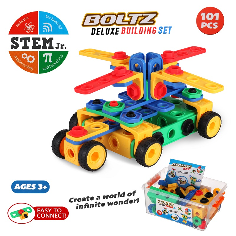 101 Piece Creative Games Fun Activity STEM Toys Kit Educational Construction Engineering Building Blocks Learning Set Best Toys