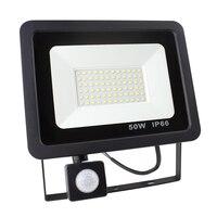 50 Вт Светодиодный прожектор с датчиком движения водонепроницаемый ac220в 20 Вт ПИР прожектор заливающего света лампа открытый прожектор для с...