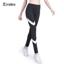 Tresdin Women Leggings High Waist Elasticity Skinny Pencil Pants Spring Autumn Streetwear Black Leggins Sexy Ladies Jeggings